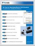 10 tips for specifying electric rod actuators: Part 2