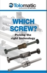 Which is best for high force linear actuators: Ball or roller screws?