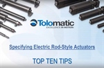 Webinar: tips on electric rod actuator selection