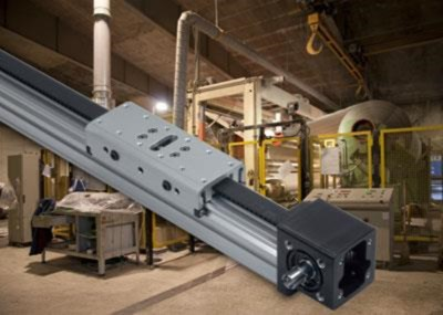 rodless belt-driven actuator in harsh environment