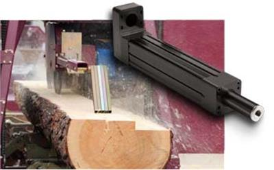 sawing logs requires rugged high force actuator