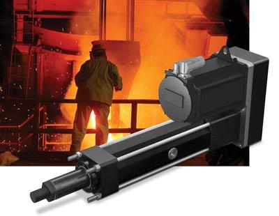 RSX extreme force linear actuator in foundry