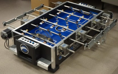 Foosball linear motion model