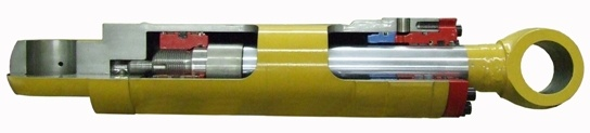 hydraulic cylinder cut-away